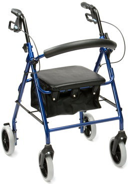 Disabled Walker With Seat And Storage Bag