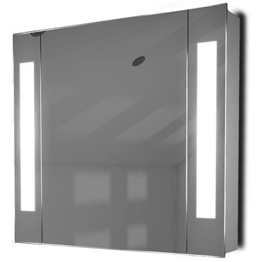Square Bathroom Mirror Cabinet With Strip LED