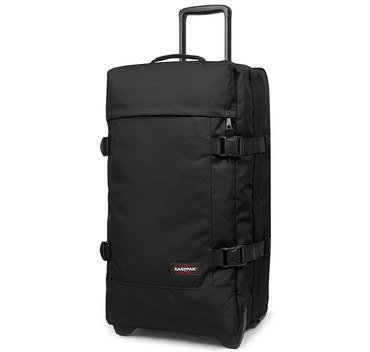Black Duffle Bag On Wheels With Straps