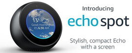 Small Echo Spot In Black With Round Screen