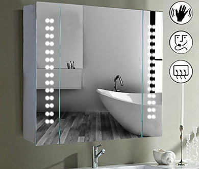 Back Lit Mirror With Demister Shaver Socket