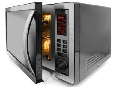 Combination Microwave Oven In Black And Steel Finish