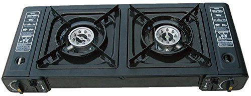 Gas 2 Burner Stove With Front Knobs