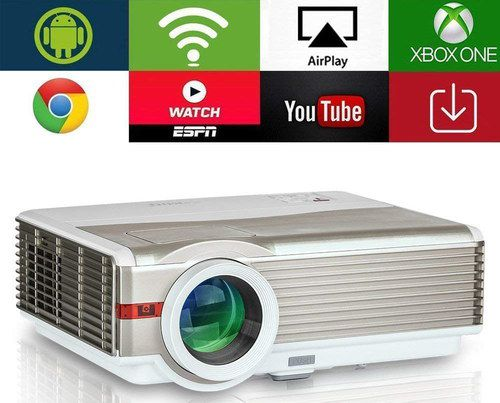 Android Multimedia Projector On White Table