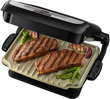 Dishwasher Safe No Fat Grill With Ribbed Plate