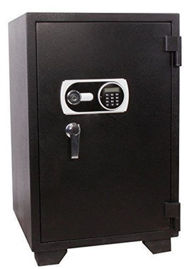 Large Safe Fireproof Filing Cabinet With Black Exterior