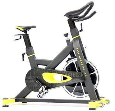 Home Exercise Bike With Cushioned Black Seat