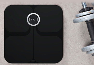 Smart Fat Measuring Scale With Black Surface