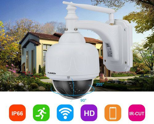 CCTV Dome Camera With White Aeriel