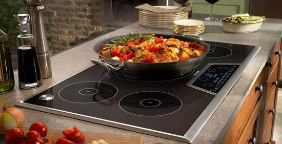 Square Induction Hob With Frying Pan