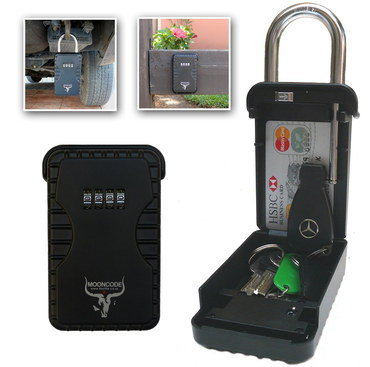 Outdoor Key Safe Box In Black Steel