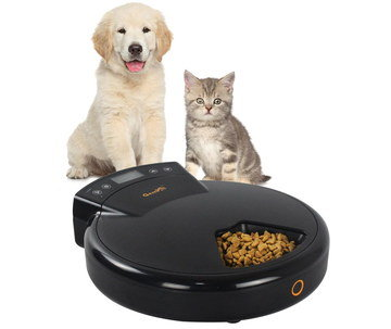 1.2L Cat Feeding Bowl With Timer And Kitten