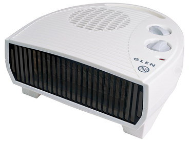 Compact Electric 3Kw Fan Heater In White