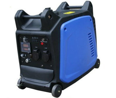 Mobile Electricity Generator In Black And Blue
