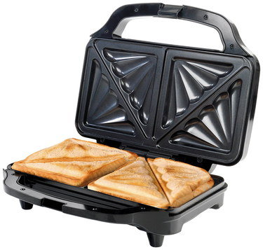 Non-Slip Deep Fill Toastie Maker With Black Exterior
