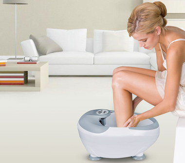 Heated Massage Spa Machine In Grey And White
