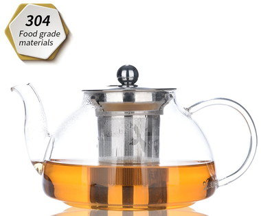 304 Graded Loose Leaf Tea Infuser Pot With Long Spout