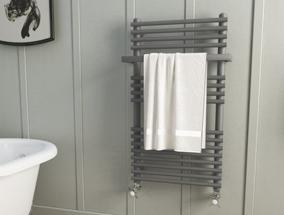 Small Heated Towel Rail In Steel Anthracite