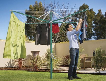 6 Arm Rotary Clothes Airer With Dense Pole