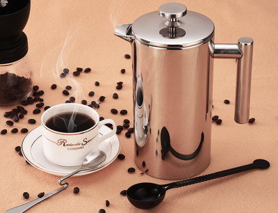 8 Cup Stove Top Coffee Maker With Round Steel Cover