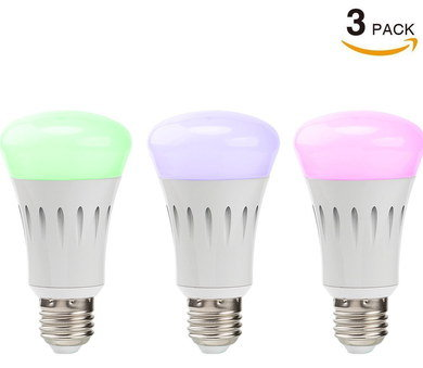 Smart Remote Control Lamp Light Bulb Pack Of 3