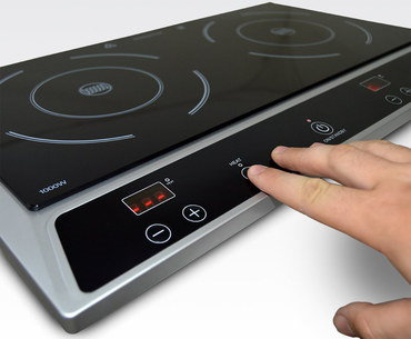 Dual Induction Cooking Hob With Easy Controls