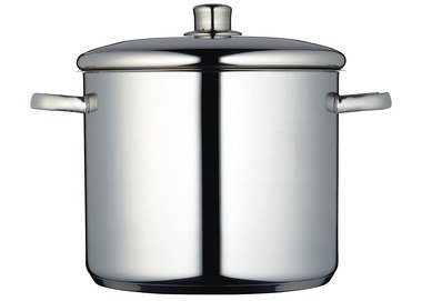 11 Litres Large Steel Stock Pot With Curved Lid