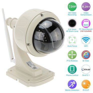 CCTV Surveillance Cam In Cream Colour