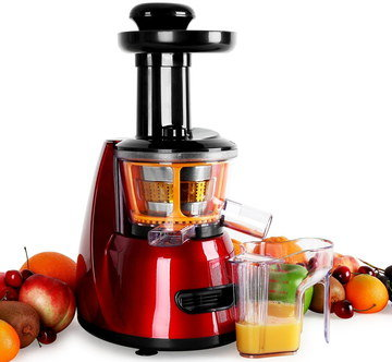 Fruit Orange Juice Machine In Red And Black