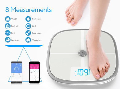 Smart WiFi Weighing Scales With Rounded Corners