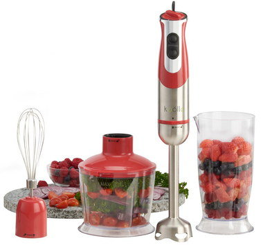 Professional Stick Blender With Red Grip
