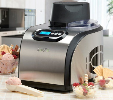 Soft Ice-cream Machine With Blue LCD