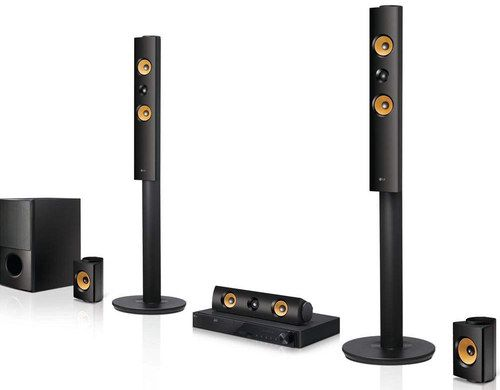 Speakers System In Black And Gold