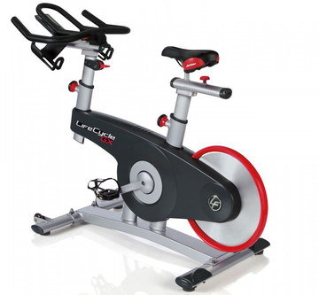 Reinforced Home Stationary Bike With Red Fly-Wheel