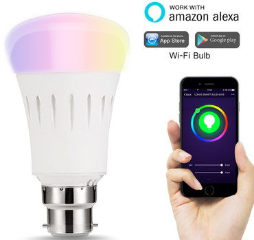 Changing Colour Light Bulb With Black Mobile