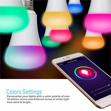 LED Multi Coloured Light Bulb With Slim Style