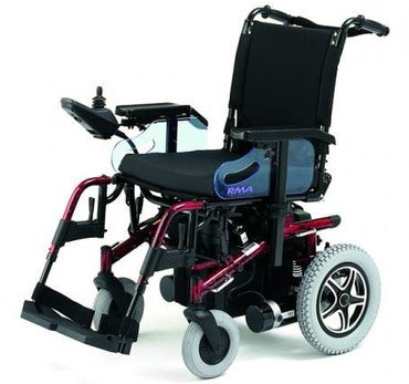 Seat Flexible Electric Wheelchair In All Black