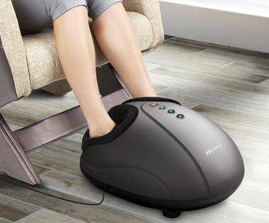 Foot Warmer Massager In Black Casing