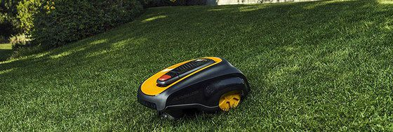 Robot Grass Mower On Steep Slope
