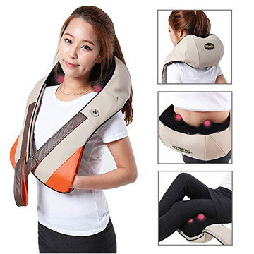 Shiatsu Neck Massager On Girl's Shoulder