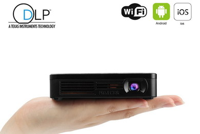 Small DLP Projector With Wi-Fi Sensor