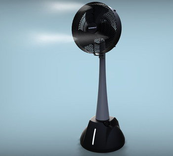 Milo Mist Stand Fan In All Black