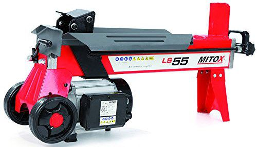 White And Red Electric Log Splitter
