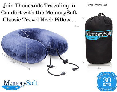 Pillow For Neck Pain In Soft Blue Textile