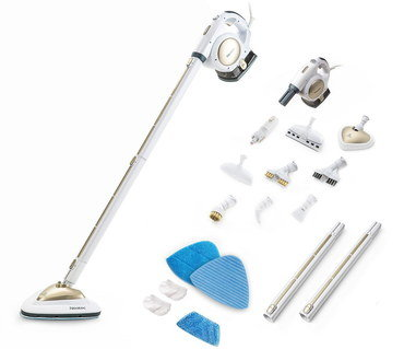 Steam Floor Cleaner With Long Rod In White
