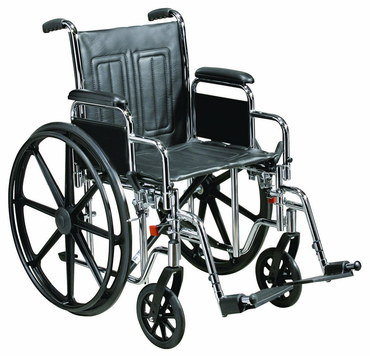 Big Self Propel Wheelchair With Black Wheels