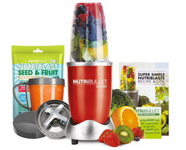 Steel Smoothie Blender Set In Red