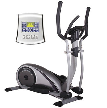 Compact Cross Trainer Machine With Blue Screen