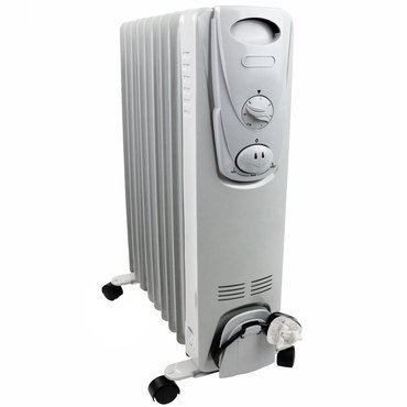 Oil Filled Heater In Grey And White