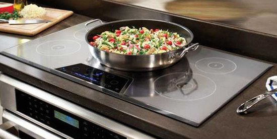 Induction Cooktop With Round Pot